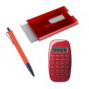 Car Keyring, Calculator, Card Case Set - Aluminum